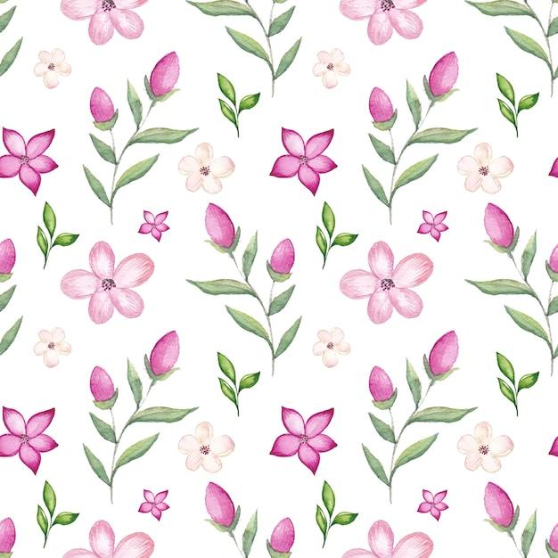 水彩桜柄 Premiumベクター