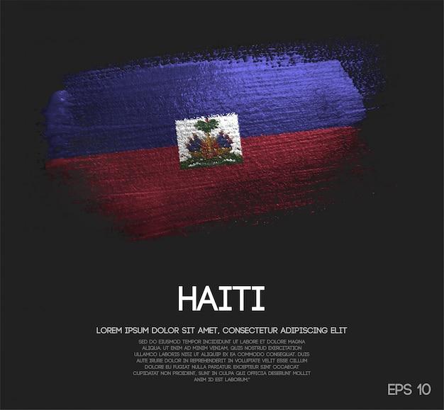 Флаг гаити, сделанный из блестки Premium векторы