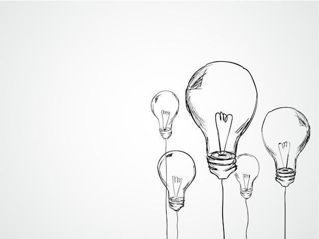 Лампочки ручной работы Бесплатные векторы