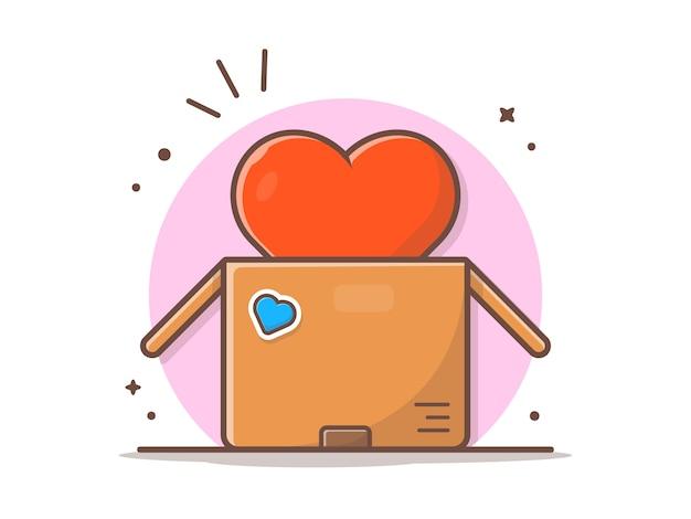 箱の中の大きな愛 Premiumベクター
