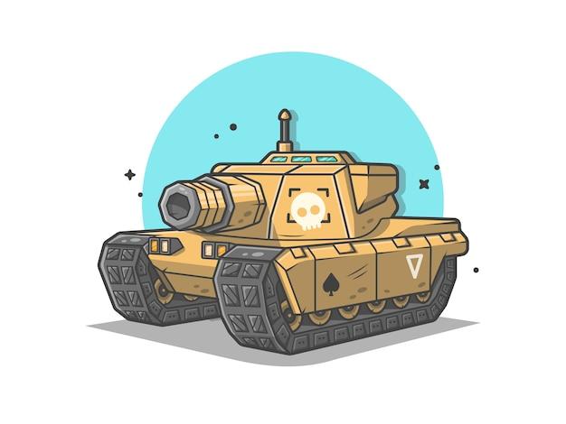 Мини-танк войны вектор значок иллюстрации Premium векторы