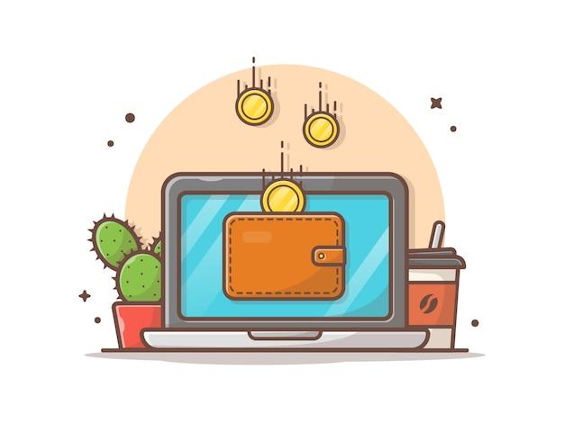 オンライン支払いベクトルアイコンイラスト Premiumベクター