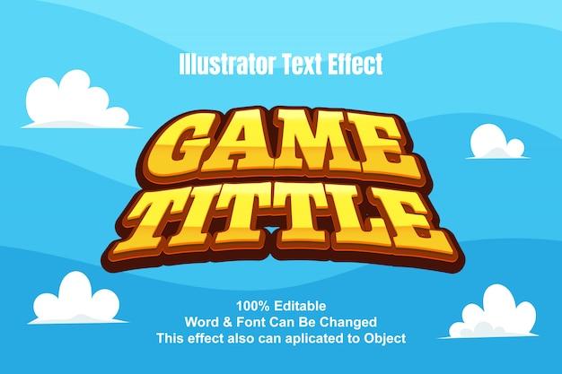 Эффект текстовой игры Premium векторы