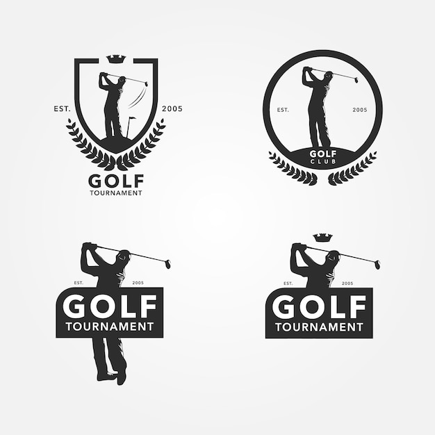 ゴルフロゴデザイン 無料ベクター