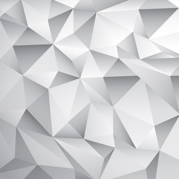 抽象的な白いポリ背景 無料ベクター