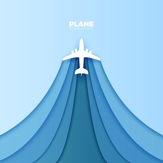 Бумажная плоскость вектор оригами Premium векторы