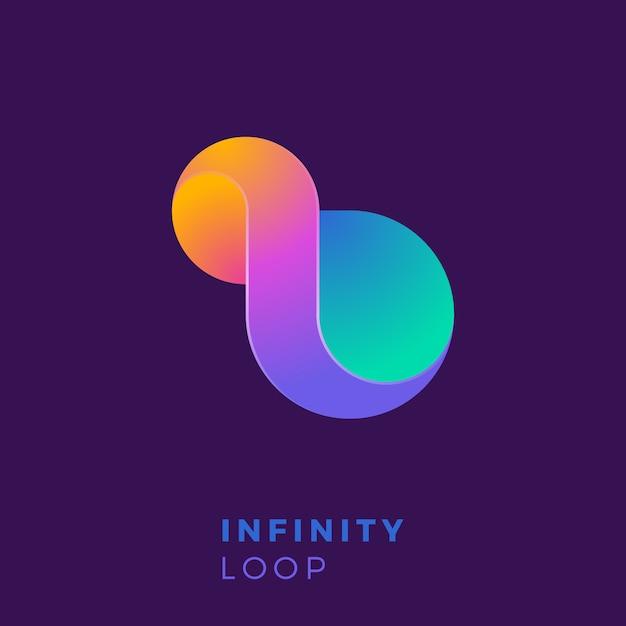 創造的なカラフルな無限のロゴのテンプレート。 Premiumベクター