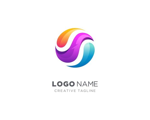 抽象的なカラフルなサークルのロゴ Premiumベクター