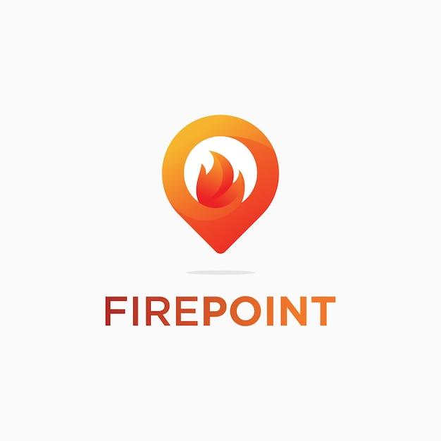 火の場所のロゴのテンプレート Premiumベクター