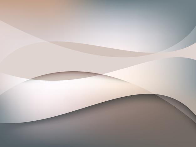 抽象的な波の背景 Premiumベクター
