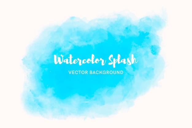 エレガントな青い水彩画の背景 無料ベクター