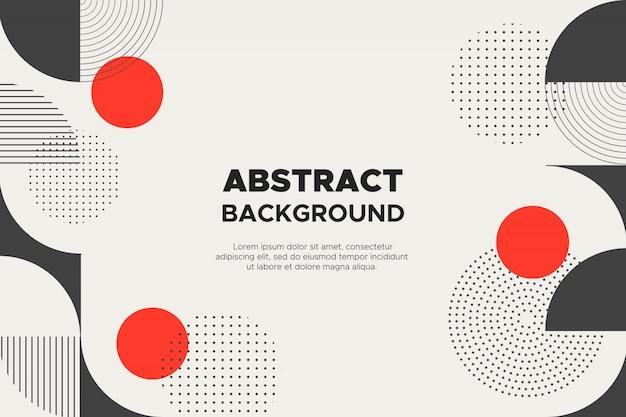 Абстрактный фон с геометрическими фигурами Бесплатные векторы