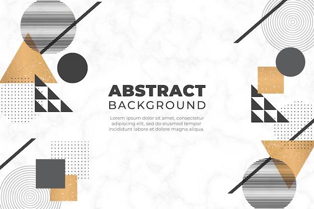 幾何学的図形と抽象的な背景 無料ベクター