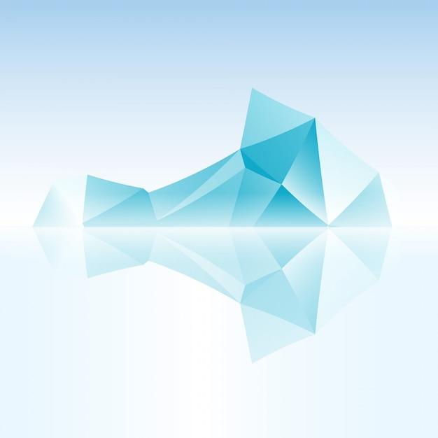 Абстрактный айсберг с треугольником Бесплатные векторы