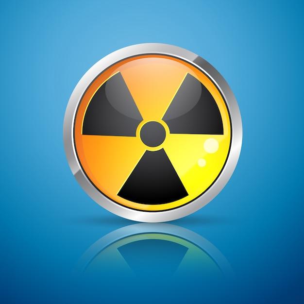 Знак ядерной радиации Premium векторы