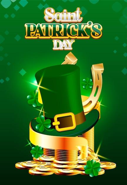 Дизайн плаката ко дню святого патрика Premium векторы