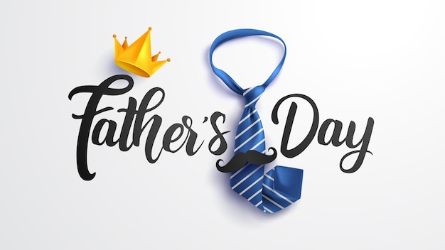 Счастливый день отца иллюстрация Premium векторы