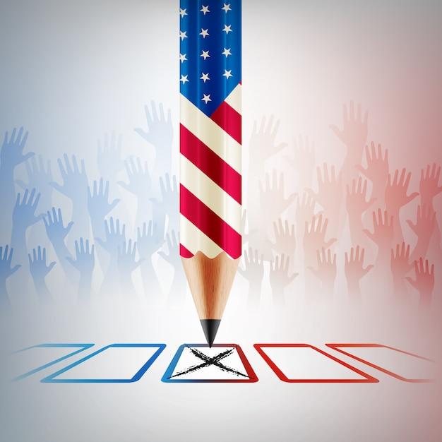 アメリカ合衆国投票、アメリカの選挙日 Premiumベクター