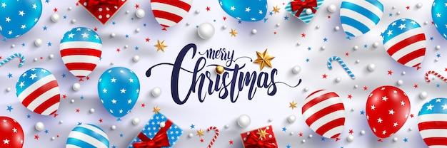 メリークリスマスと新年のポスター Premiumベクター