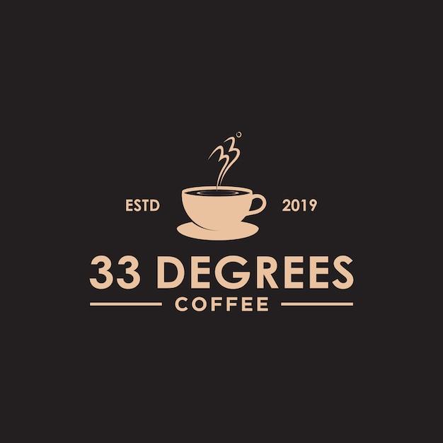 Винтаж кофе логотип Premium векторы