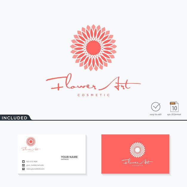 Цветочный дизайн логотипа вдохновения Premium векторы