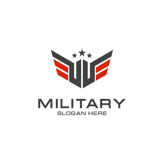 Элегантный военный дизайн логотипа Premium векторы