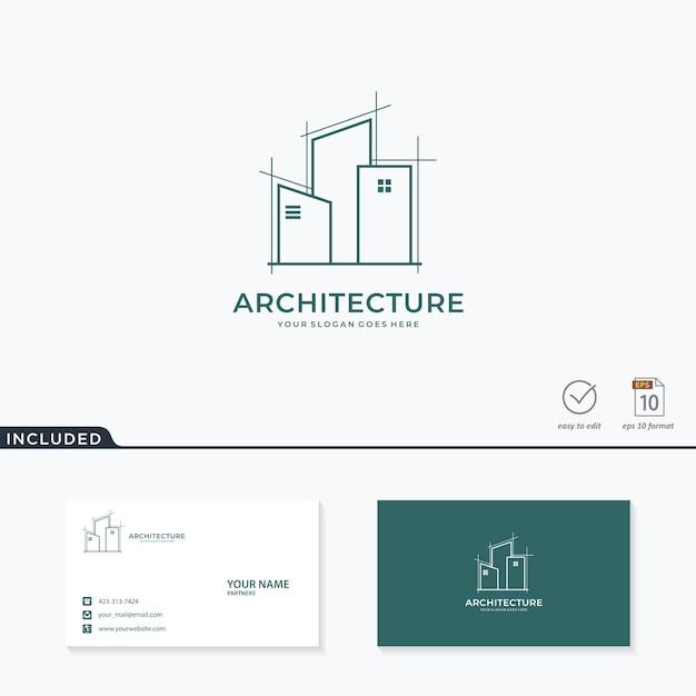 Дизайн логотипа архитектуры Premium векторы