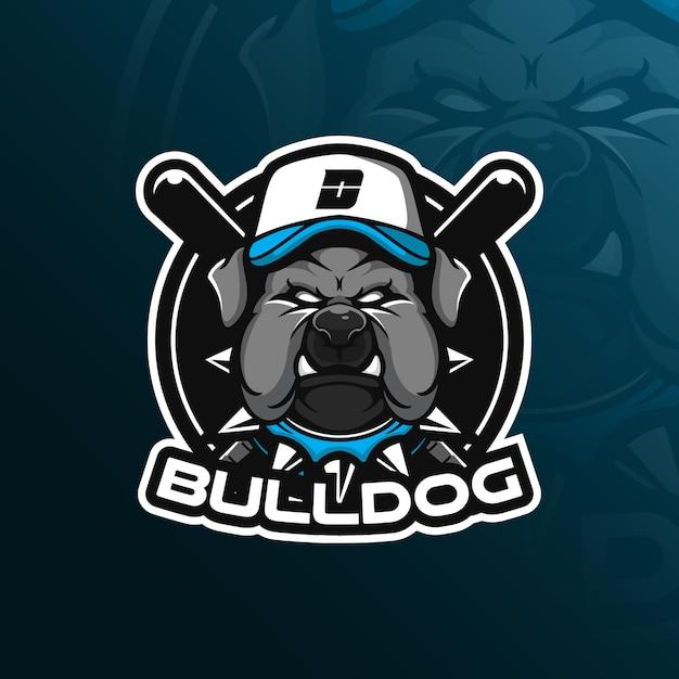 犬のベクトルマスコットロゴ Premiumベクター