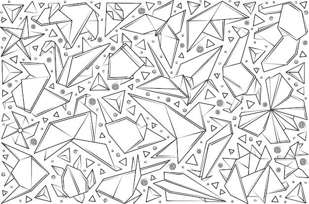 手描きの紙折り紙。 Premiumベクター