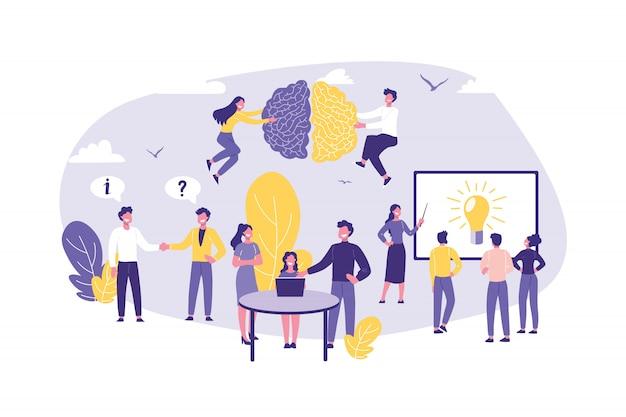 専門知識、監査、コンサルティング、チームワーク、パートナーシップのビジネスコンセプト。 Premiumベクター