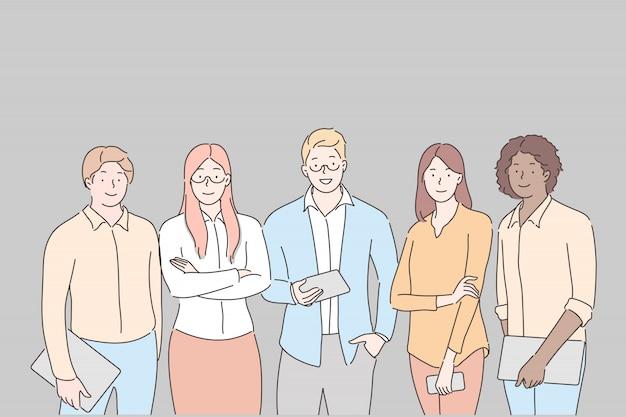 ビジネスチーム、コラボレーション、パートナーシップの概念 Premiumベクター