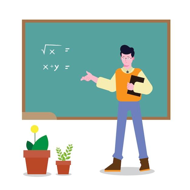 教室の先生 Premiumベクター