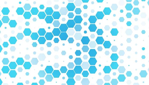 Голубой шестиугольник Бесплатные векторы