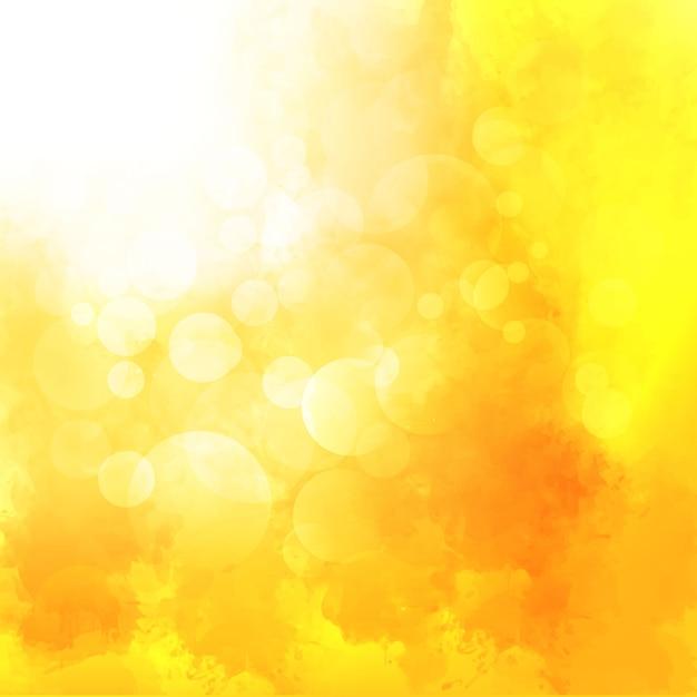 黄色の水彩の背景 無料ベクター