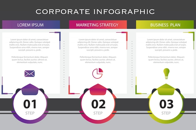 Шаблон бизнес инфографики Бесплатные векторы