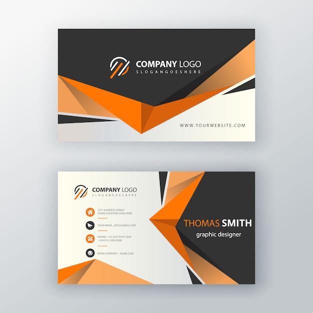 Визитная карточка оранжевой формы Бесплатные векторы