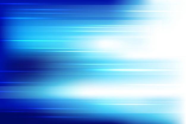 光沢のあるラインの背景を持つ青い光 無料ベクター