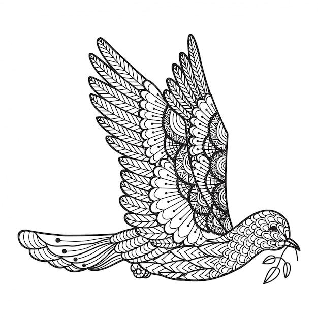 Ручной обращенный голубь фон Бесплатные векторы