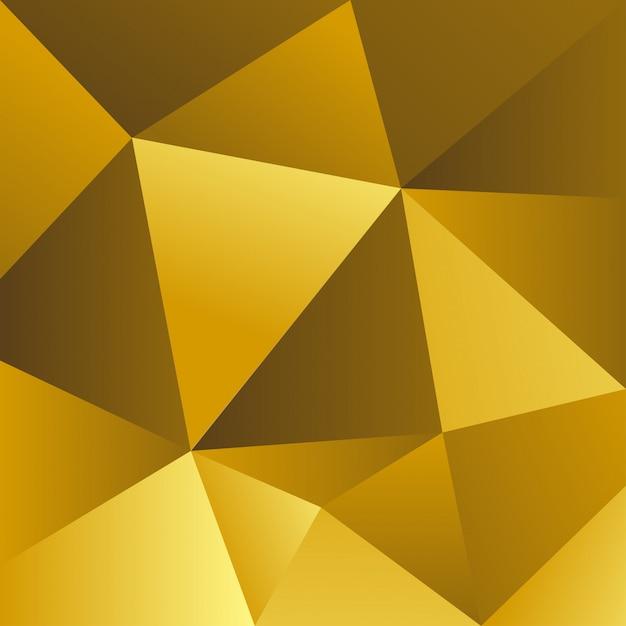 黄色の三角形の背景 Premiumベクター