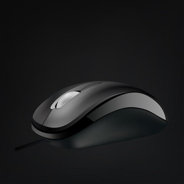 分離されたホイールとコンピューターのマウス Premiumベクター