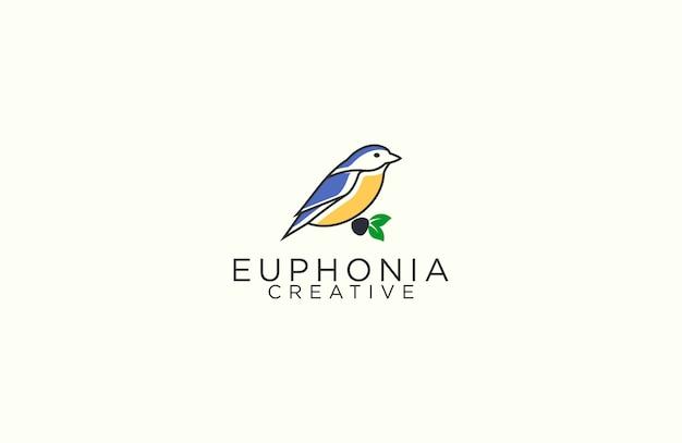 Эвфония наброски логотип Premium векторы