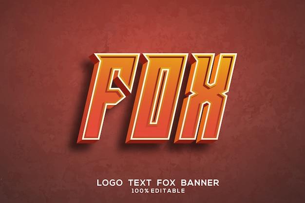 Фокс текст Premium векторы