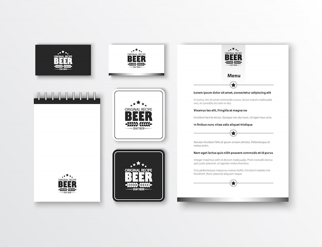 企業のアイデンティティ古典的な文房具のテンプレートデザイン。ビジネスのための文書。 無料ベクター