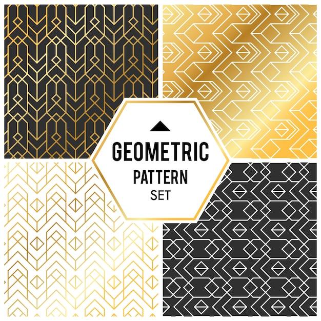 菱形とノードを持つ幾何学的背景。抽象幾何学パターン 無料ベクター