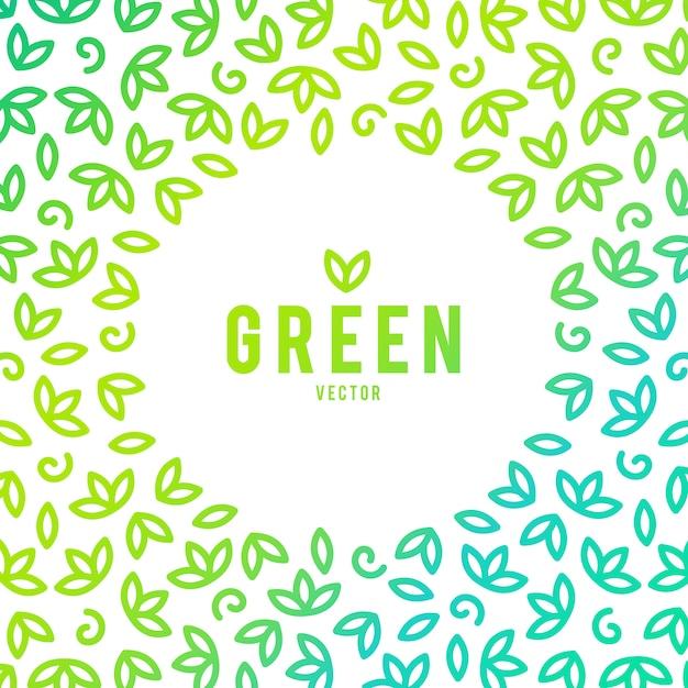 クリエイティブグリーンハウスコンセプトロゴテンプレート 無料ベクター