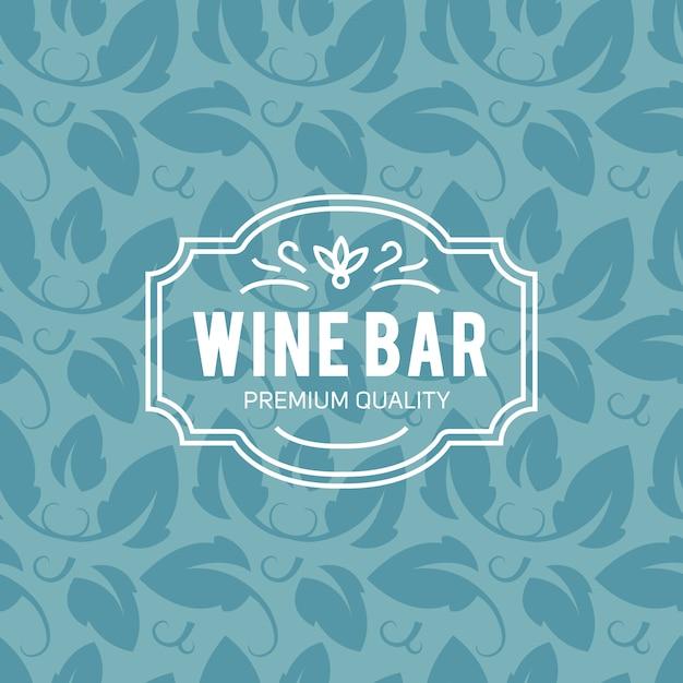 ワイングラスとブドウヴィンテージレタリングの背景 無料ベクター