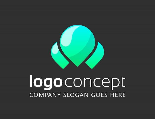 創造的な抽象的なロゴデザインテンプレート。 無料ベクター