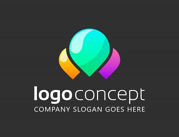 Творческий абстрактный шаблон логотипа. Бесплатные векторы