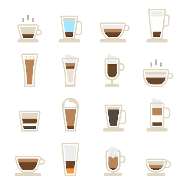 コーヒーアイコンのカップ 無料ベクター