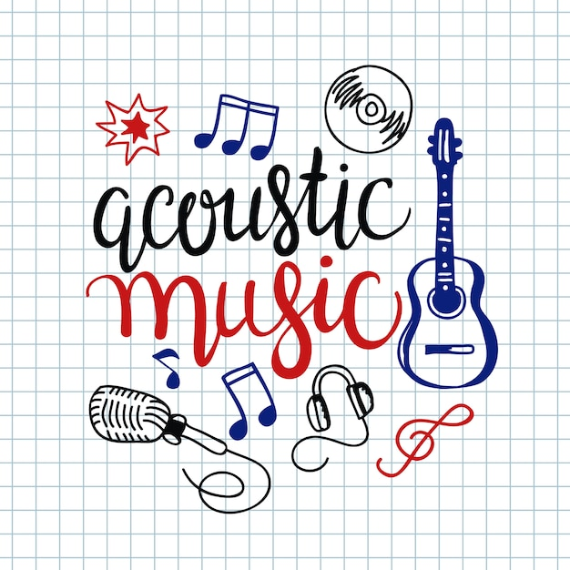 カラフルな音楽の背景。 無料ベクター